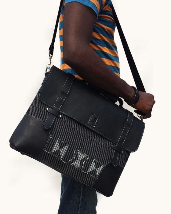 01b099693b40 AKOWE SCAR BLACK STRIPE Laptop Bag – Ethnik